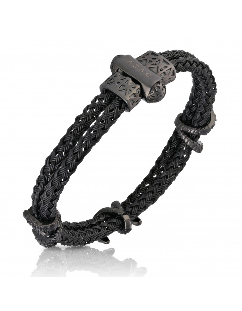 """""""The Claws"""" Black Cable Bracelet"""
